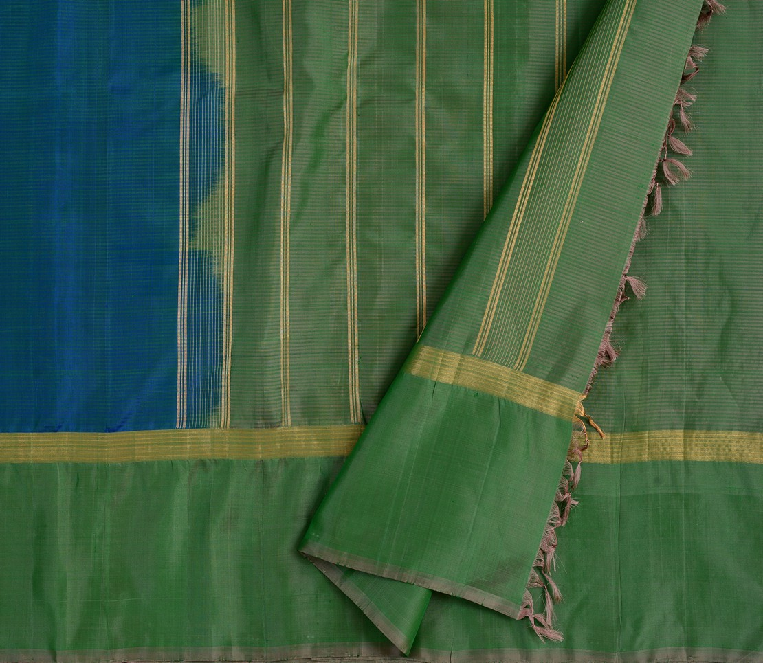 simple-kanjivaram-soft-silk-saree-weavemaya-bangalore-India-Maya-peacock-blue-1202011-3