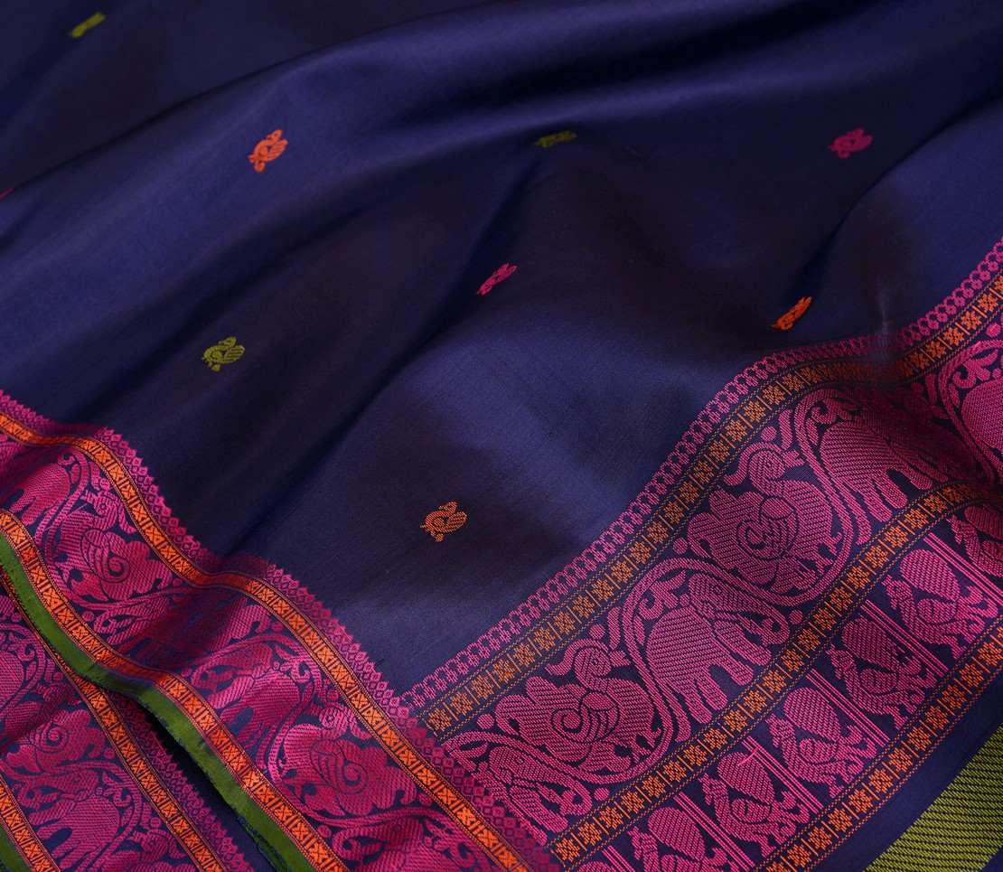 softsilk-threadwork-kanjivaram-saree-weavemaya-bangalore-India-Maya-navy-blue-1202048-4