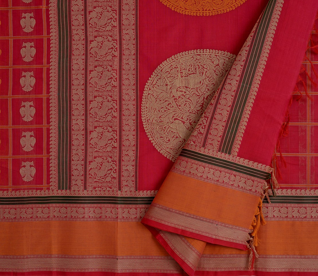 exclusive-kanchi-cotton-saree-weavemaya-bangalore-India-Maya-red-2872008-3