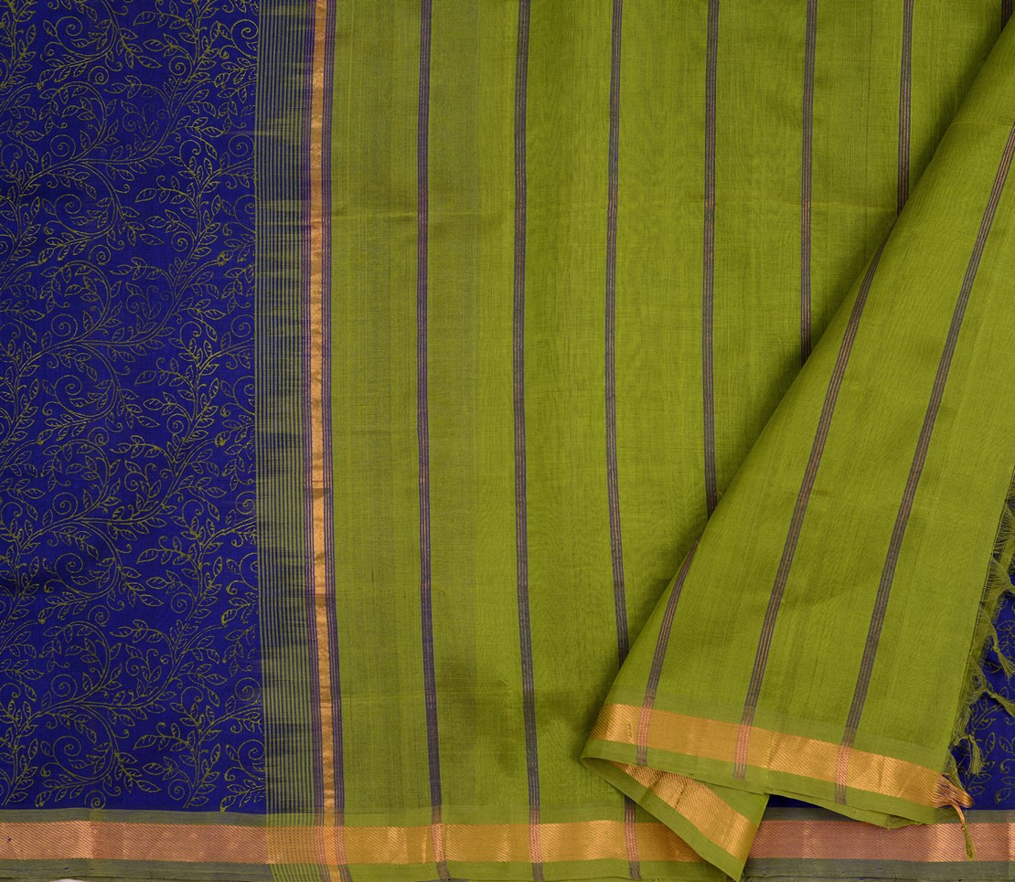 simple-kanchi-silkcotton-saree-block-printed-weavemaya-bangalore-India-Maya-navy-blue-4680729-2