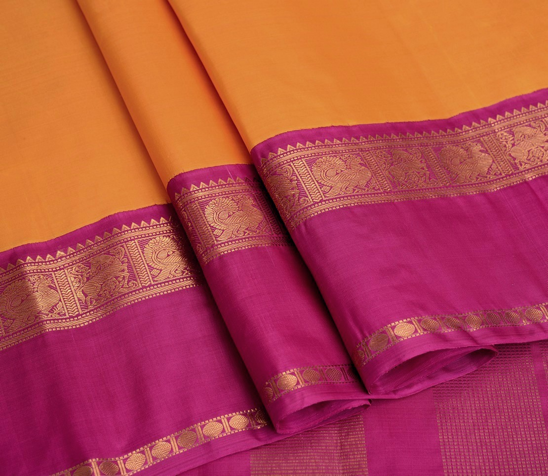 elegant-handloom-silk-saree-weavemaya-bangalore-India-Maya-chrome-yellow-5952101-wave