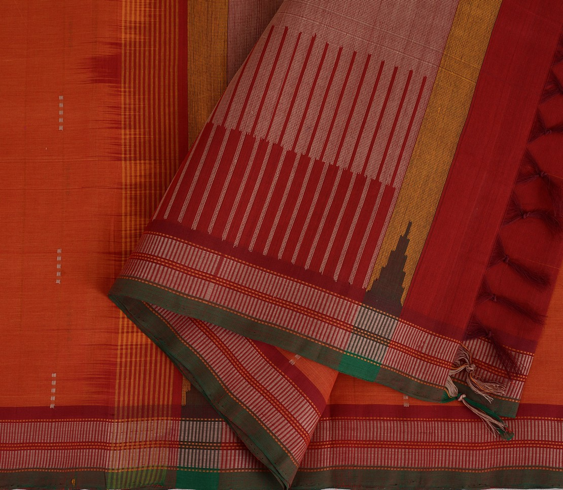 exclusive-kanchi-cotton-weavemaya-bangalore-India-Maya-rust-orange-8302040-4