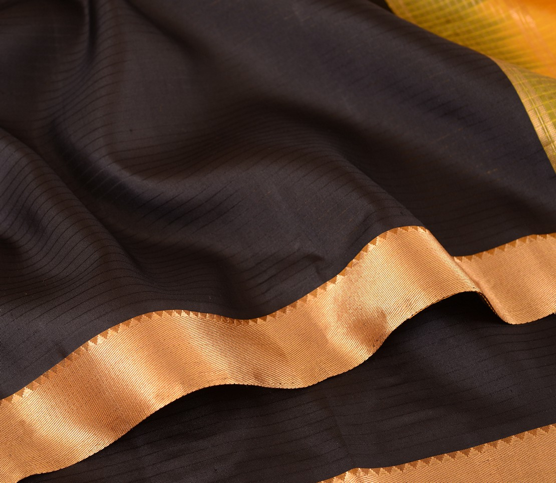elegant-kanjivaram-silk-saree-weavemaya-Bangalore-India-Maya-sarala-black-2872004-wave