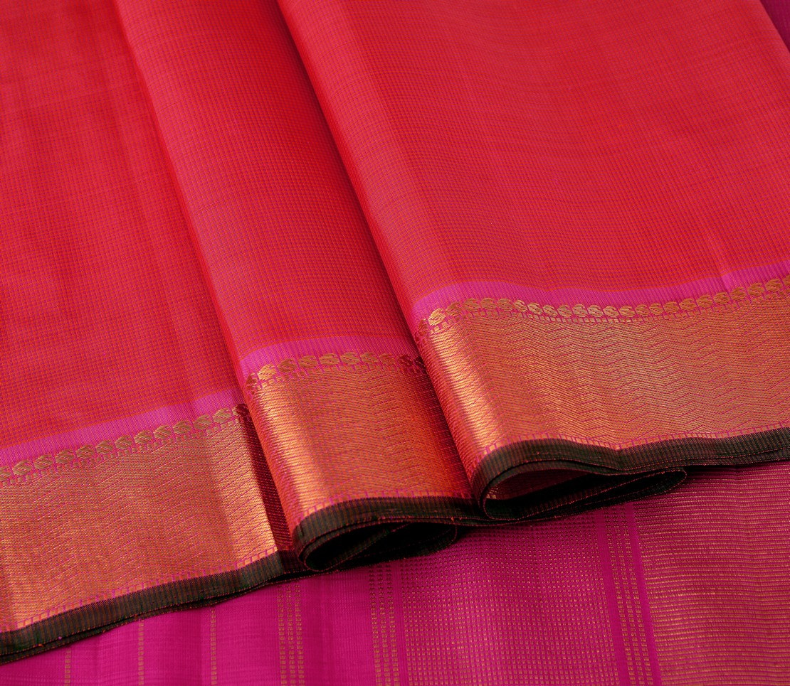 elegant-handloom-silk-saree-weavemaya-bangalore-India-Maya-pink-orange-podi-kattam-4932103-wave