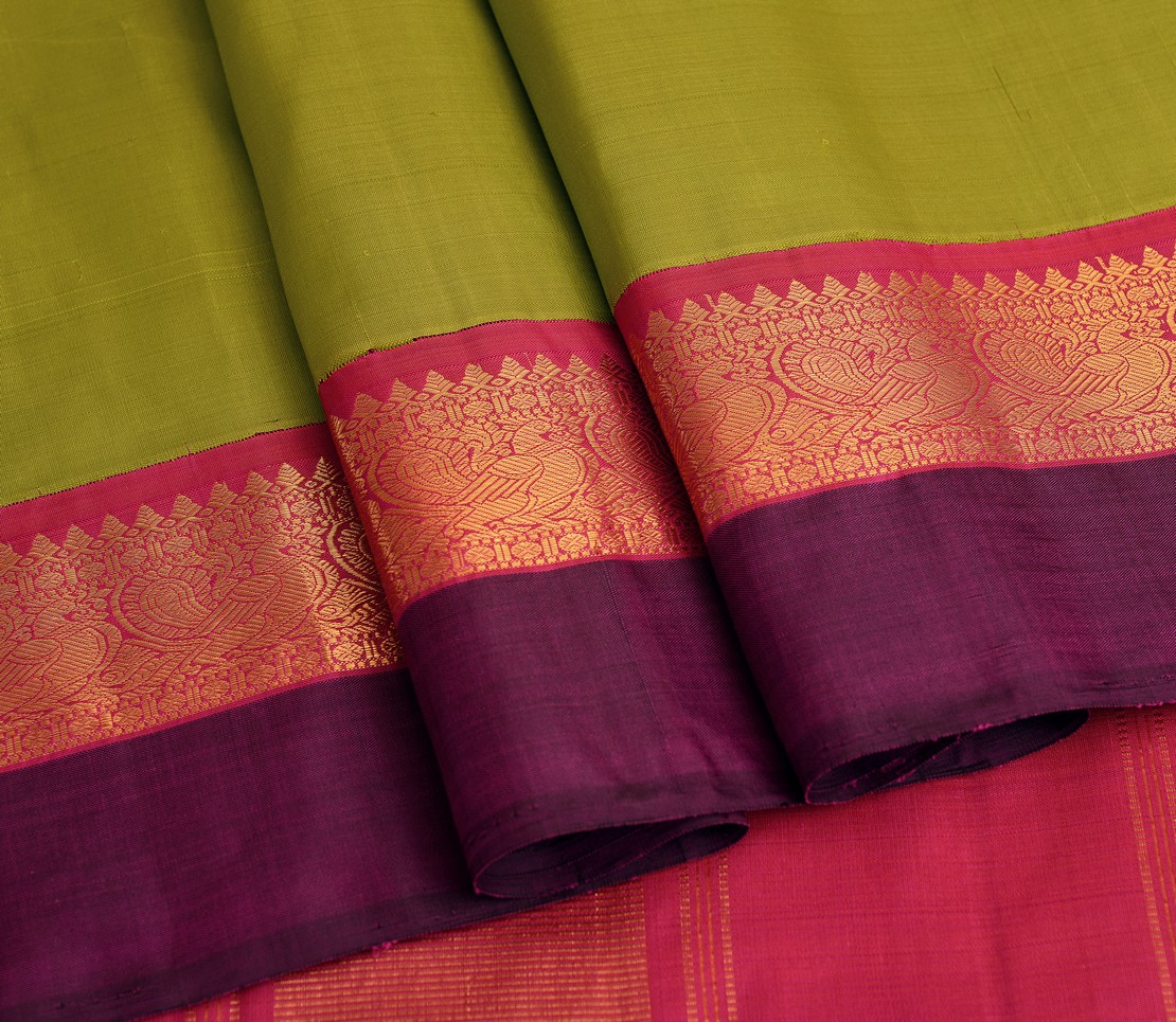 elegant-handloom-silk-saree-weavemaya-bangalore-India-Maya-parrot-green-5952103-wave