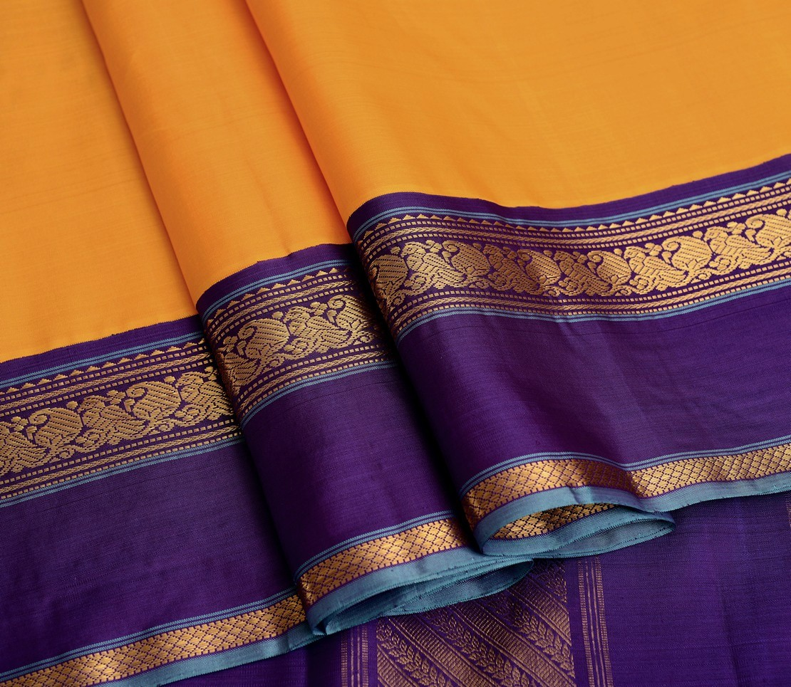elegant-handloom-silk-saree-weavemaya-bangalore-India-Maya-chrome-yellow-5952104-wave