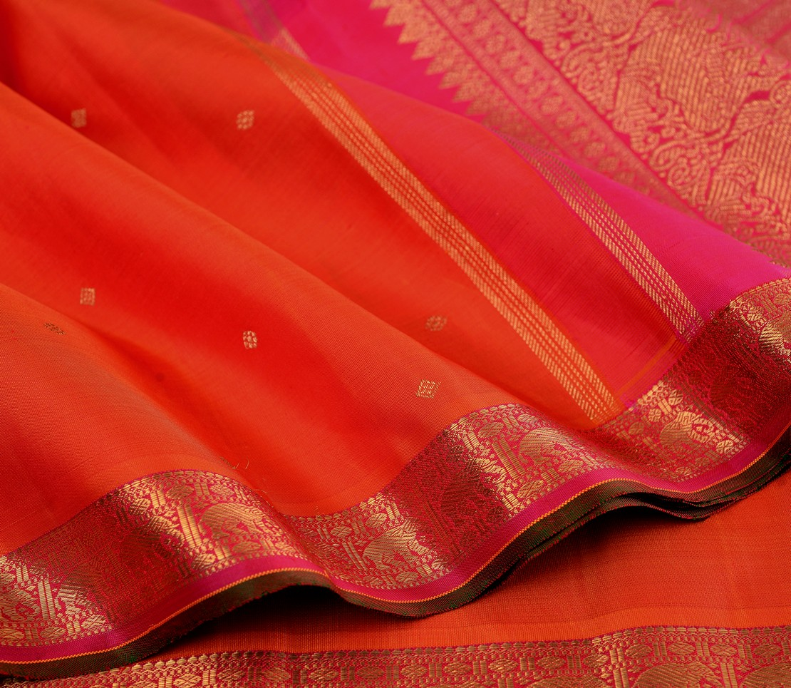 elegant-bridal-kanjivaram-silk-saree-weavemaya-bangalore-India-Maya-orange-6202103-wave