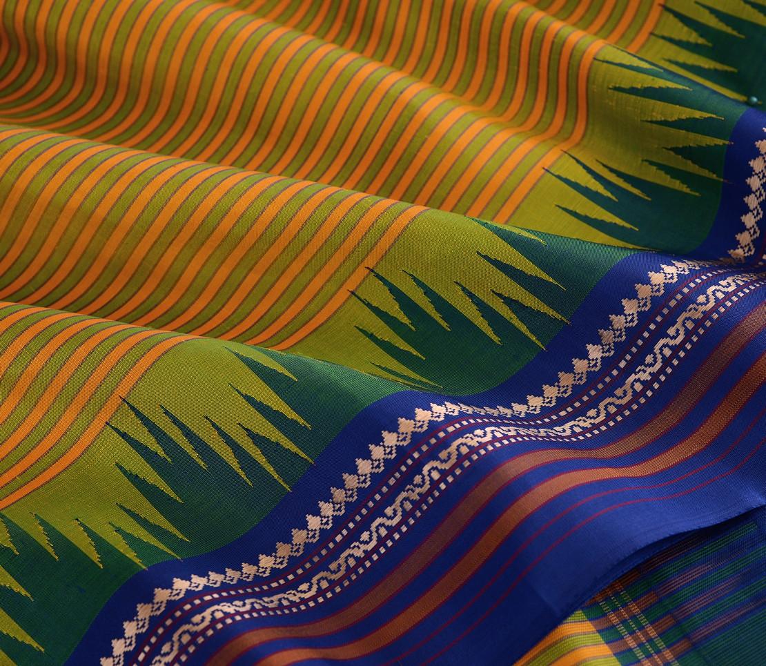 elegant-sampradaya-kanjivaram-silk-saree-weavemaya-Bangalore-India-Maya-yellow-green-6202115-wave