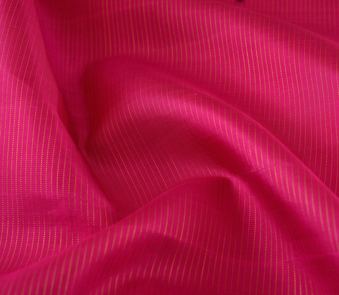 Shimmering- kanjivaram-silk-vaira-oosi-yardage-weavemaya-bangalore-India-Maya-rani-pink-2