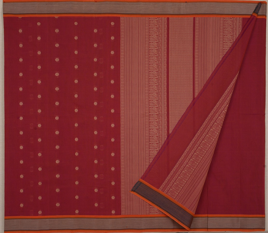 elegant-simple-Kanchi-cotton-weavemaya-Bangalore-India-Maya-dark-pink-8302058-2