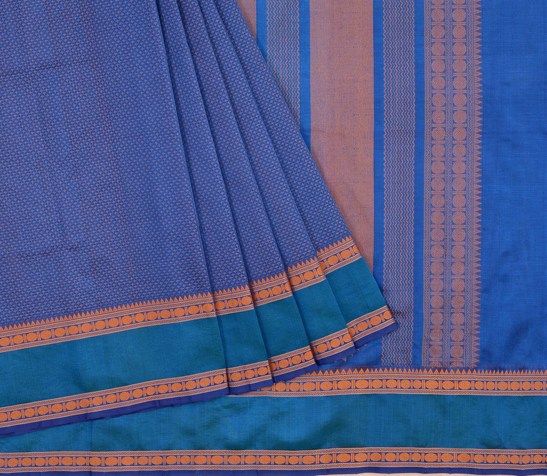 elegant-Kanchi-silkcotton-weavemaya-Bangalore-India-Maya-plus-butta-blue-1472126-3