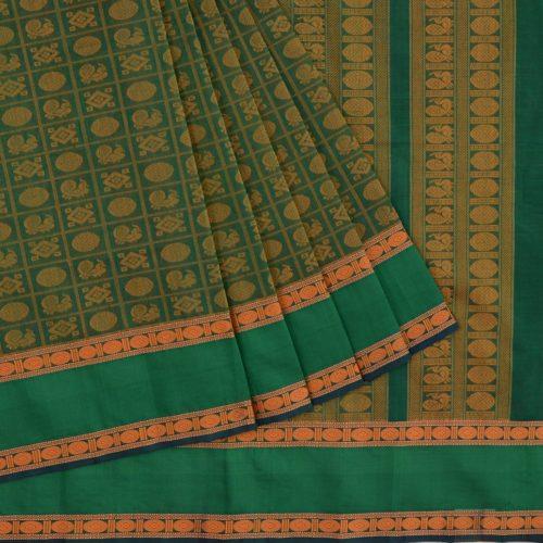 elegant-Kanchi-silkcotton-weavemaya-Bangalore-India-Maya-ayiram-butta-green-1472131-3