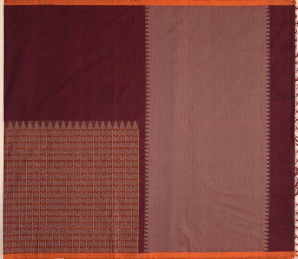exquisite-kanchi-cotton-parutti-saree-weavemaya-Bangalore-India-Maya-half-and-half-mayil-chakram-arakku-1492103-1