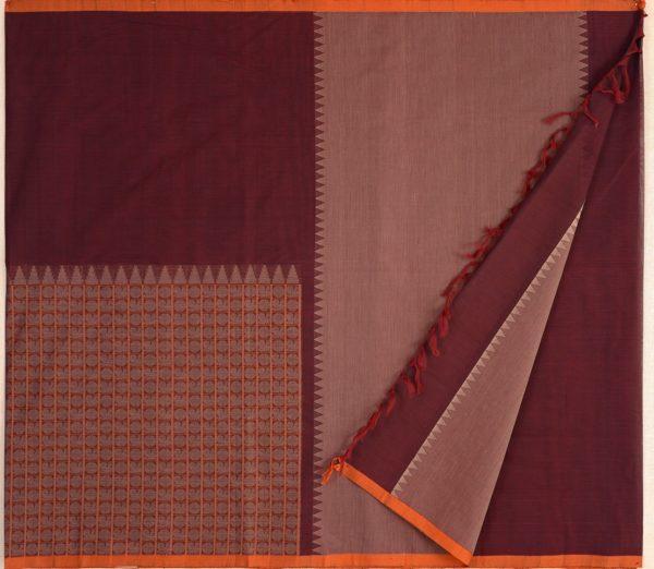 exquisite-kanchi-cotton-parutti-saree-weavemaya-Bangalore-India-Maya-half-and-half-mayil-chakram-arakku-1492103-2