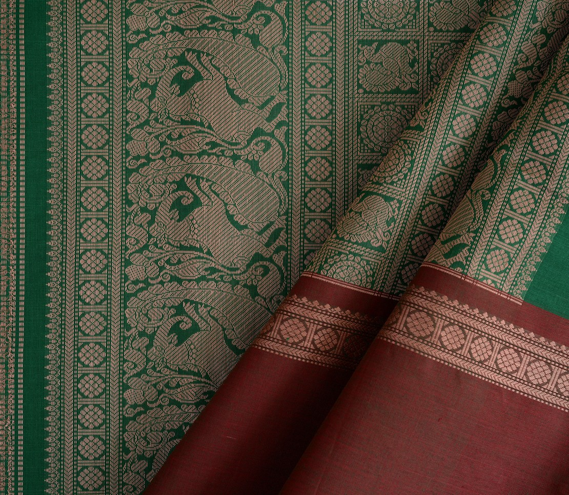 exquisite-kanchi-cotton-parutti-saree-weavemaya-Bangalore-India-Maya-mayil-chakram-green-ganga-jamuna-1492111-wave
