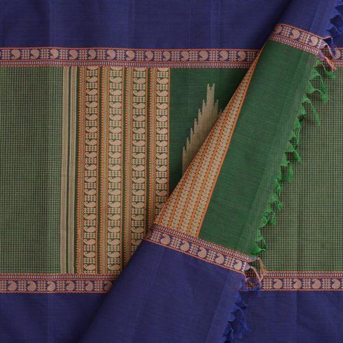 elegant-kanchi-cotton-saree-weavemaya-Bangalore-India-Maya-mubbhagam-bottle-green-8302029-wave