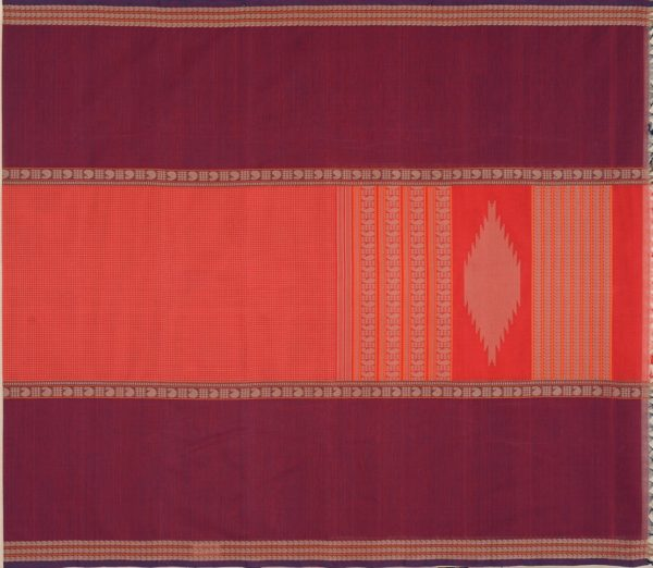 elegant-kanchi-cotton-saree-weavemaya-Bangalore-India-Maya-mubbhagam-deep-red-8302030-1
