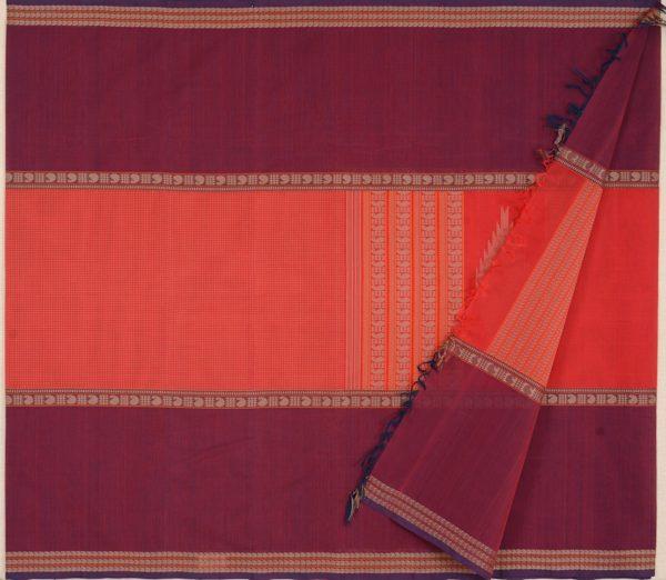 elegant-kanchi-cotton-saree-weavemaya-Bangalore-India-Maya-mubbhagam-deep-red-8302030-2