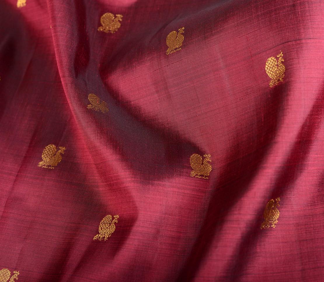 elegant-handloom-kanjivaram-silk-yardage-arakku-annam-butta-502101-wave