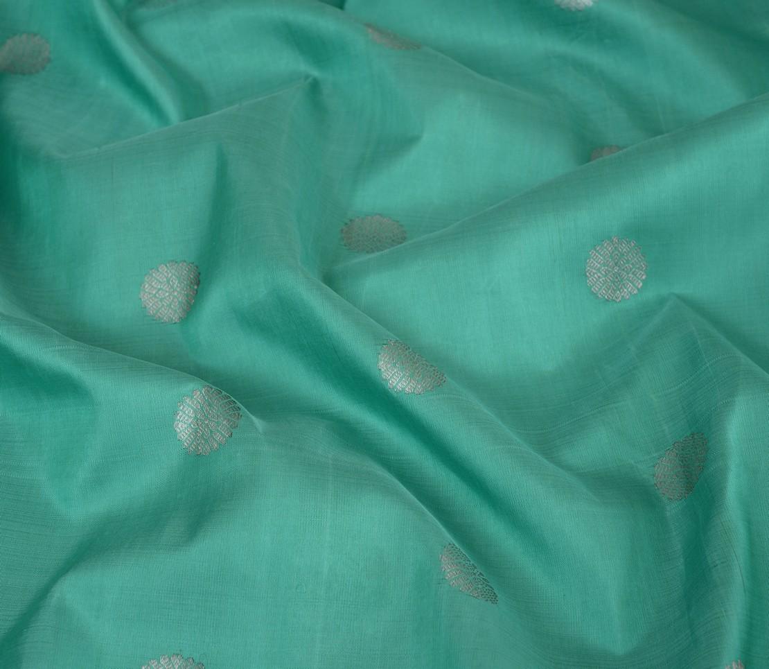 elegant-handloom-kanjivaram-silk-yardage-kamalam-butta-aqua-green-522106-3