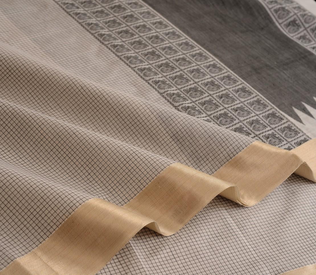 Elegant Kanchi cotton butta blouse weavemaya Bangalore India Maya offwhite 4482169 5