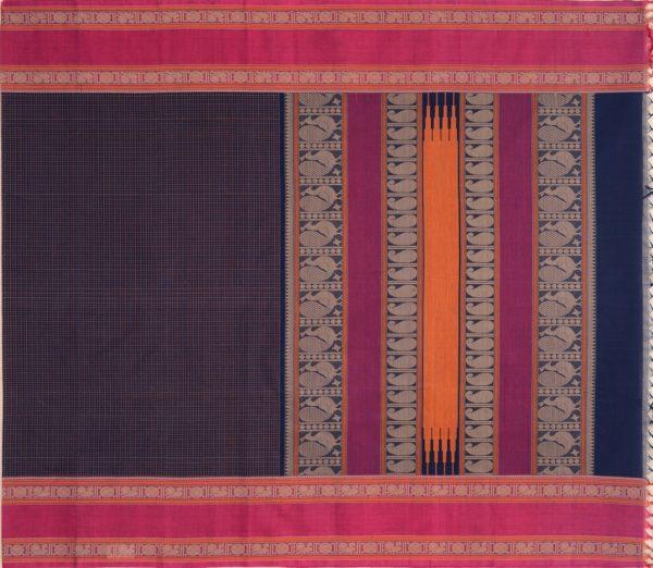 Elegant Kanchi cotton kattam weavemaya Bangalore India Maya navyblue 4482162 1
