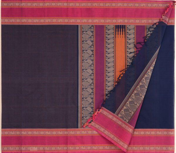 Elegant Kanchi cotton kattam weavemaya Bangalore India Maya navyblue 4482162 2