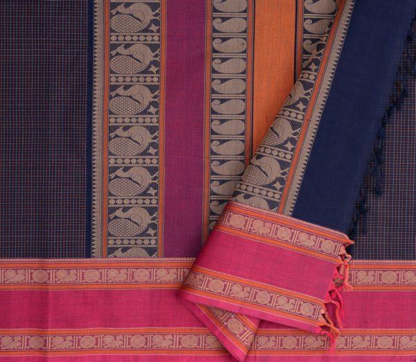 Elegant Kanchi cotton kattam weavemaya Bangalore India Maya navyblue 4482162 3