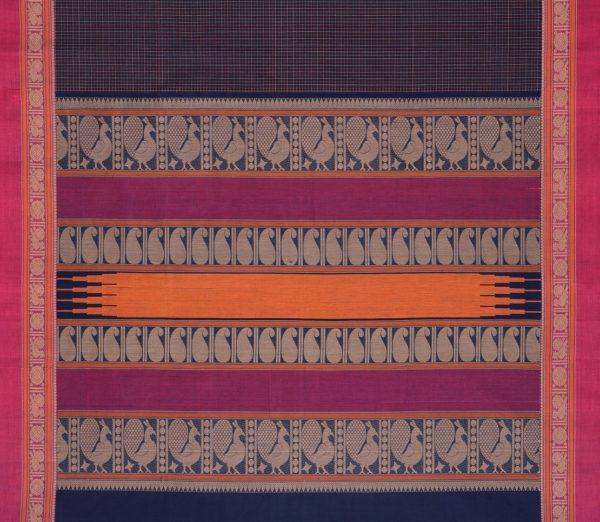 Elegant Kanchi cotton kattam weavemaya Bangalore India Maya navyblue 4482162 4