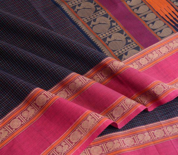 Elegant Kanchi cotton kattam weavemaya Bangalore India Maya navyblue 4482162 5