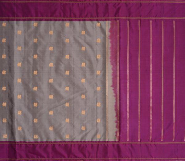 Elegant Kanjivaram silk saree annam butta weavemaya Bangalore India Maya grey 10172121 1