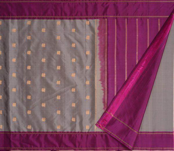 Elegant Kanjivaram silk saree annam butta weavemaya Bangalore India Maya grey 10172121 2