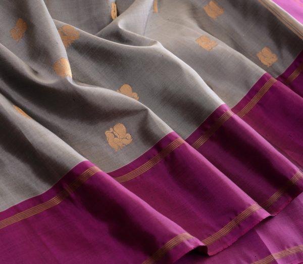 Elegant Kanjivaram silk saree annam butta weavemaya Bangalore India Maya grey 10172121 4
