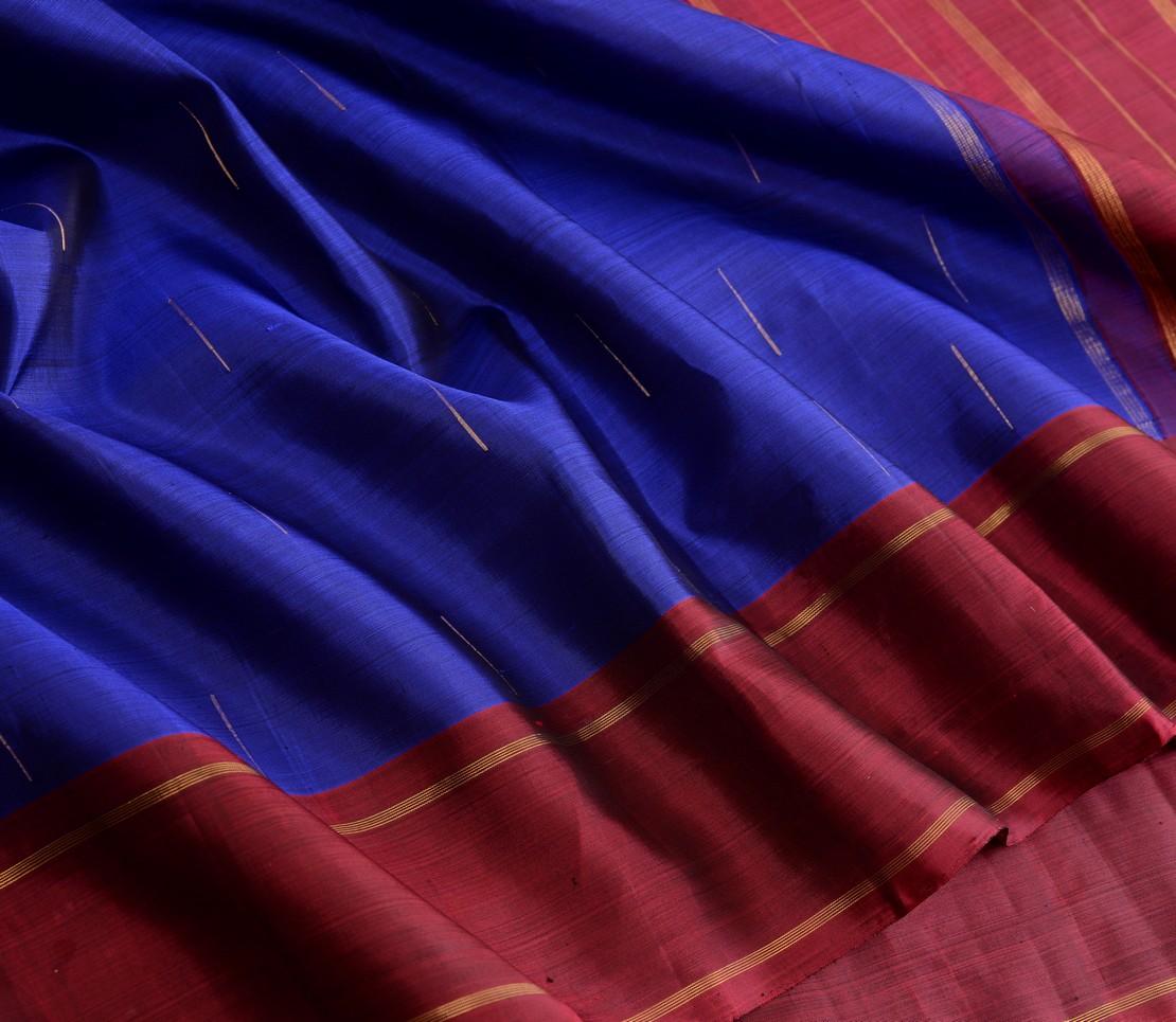Elegant Kanjivaram silk saree mallimoggu butta weavemaya Bangalore India Maya msblue 10172120 4