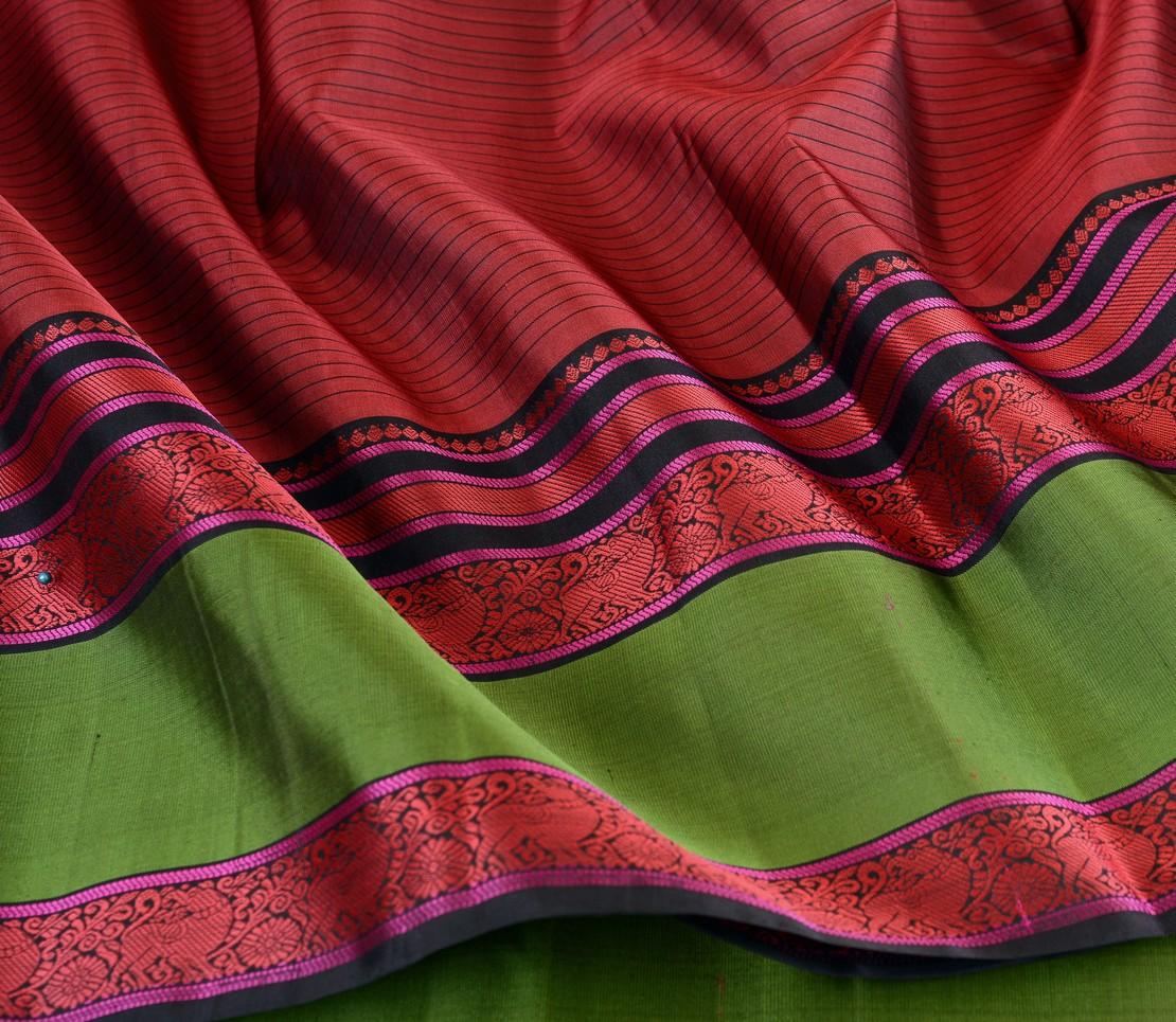 Elegant threadwork Kanjivaram silk saree weavemaya Bangalore India Maya arakku 4502111 4