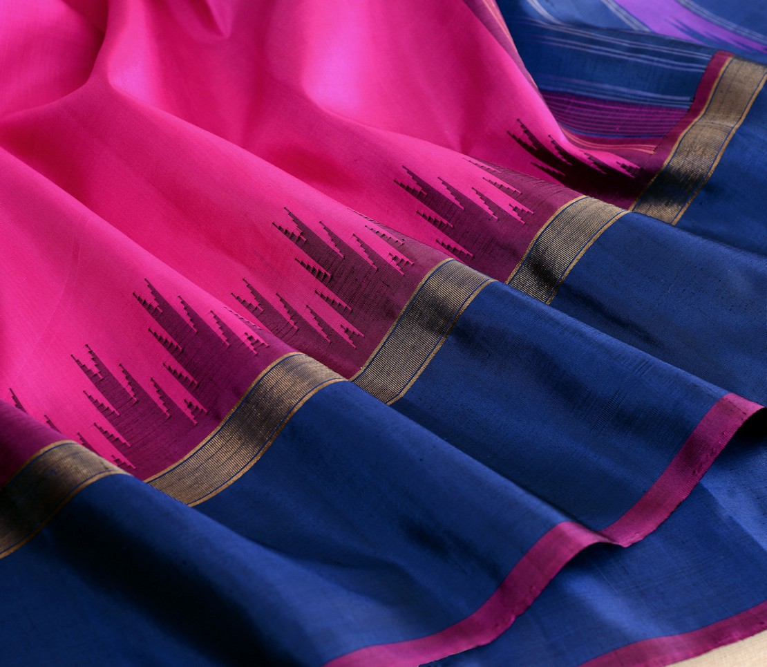 Traditional Kanjivaram silk korvai temple weavemaya Bangalore India Maya pink 4502135 4