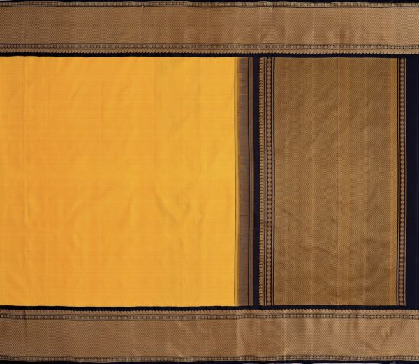 Traditional korvai border Kanjivaram silk saree weavemaya Bangalore India Maya mustard 10172123 1