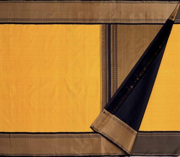 Traditional korvai border Kanjivaram silk saree weavemaya Bangalore India Maya mustard 10172123 2