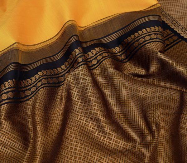 Traditional korvai border Kanjivaram silk saree weavemaya Bangalore India Maya mustard 10172123 5