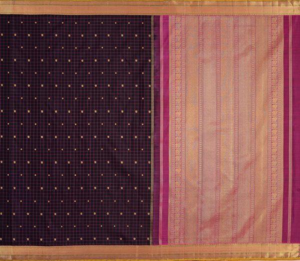 elegant Kanjivaram silk saree kattam butta rich pallu weavemaya Bangalore India Maya Black 1582101 1