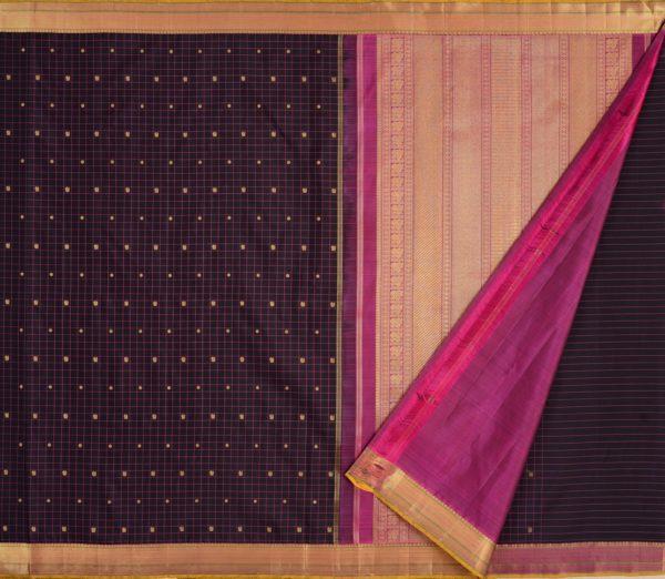 elegant Kanjivaram silk saree kattam butta rich pallu weavemaya Bangalore India Maya Black 1582101 2