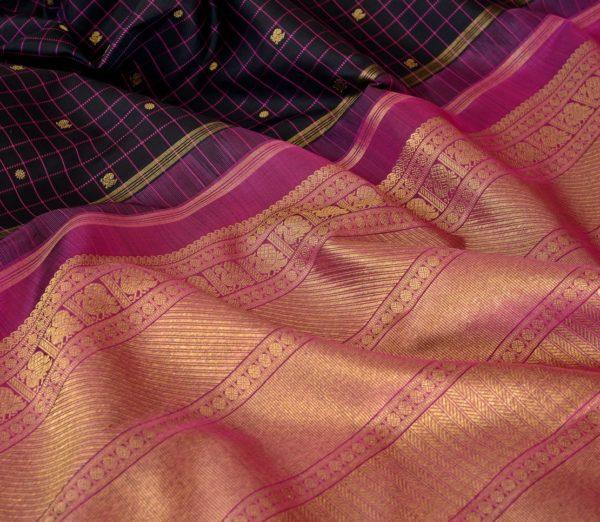 elegant Kanjivaram silk saree kattam butta rich pallu weavemaya Bangalore India Maya Black 1582101 wave 2