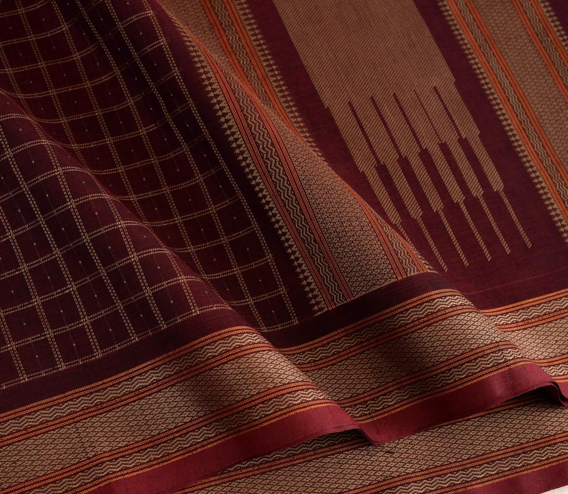 Elegant Kanchi cotton kattam weavemaya Bangalore India Maya Brown 4482176 4