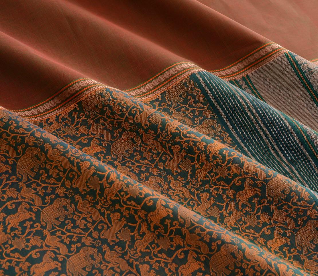 Elegant Kanchi cotton mubbhagam weavemaya Bangalore India Maya Green 4482183 4