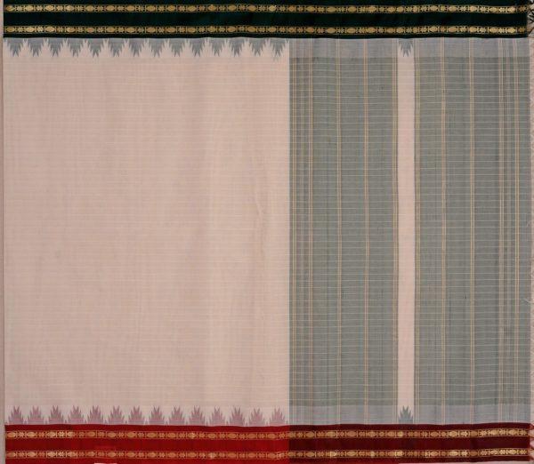 Elegant Kanchi cotton silkborder weavemaya Bangalore India Maya white 10162107 1