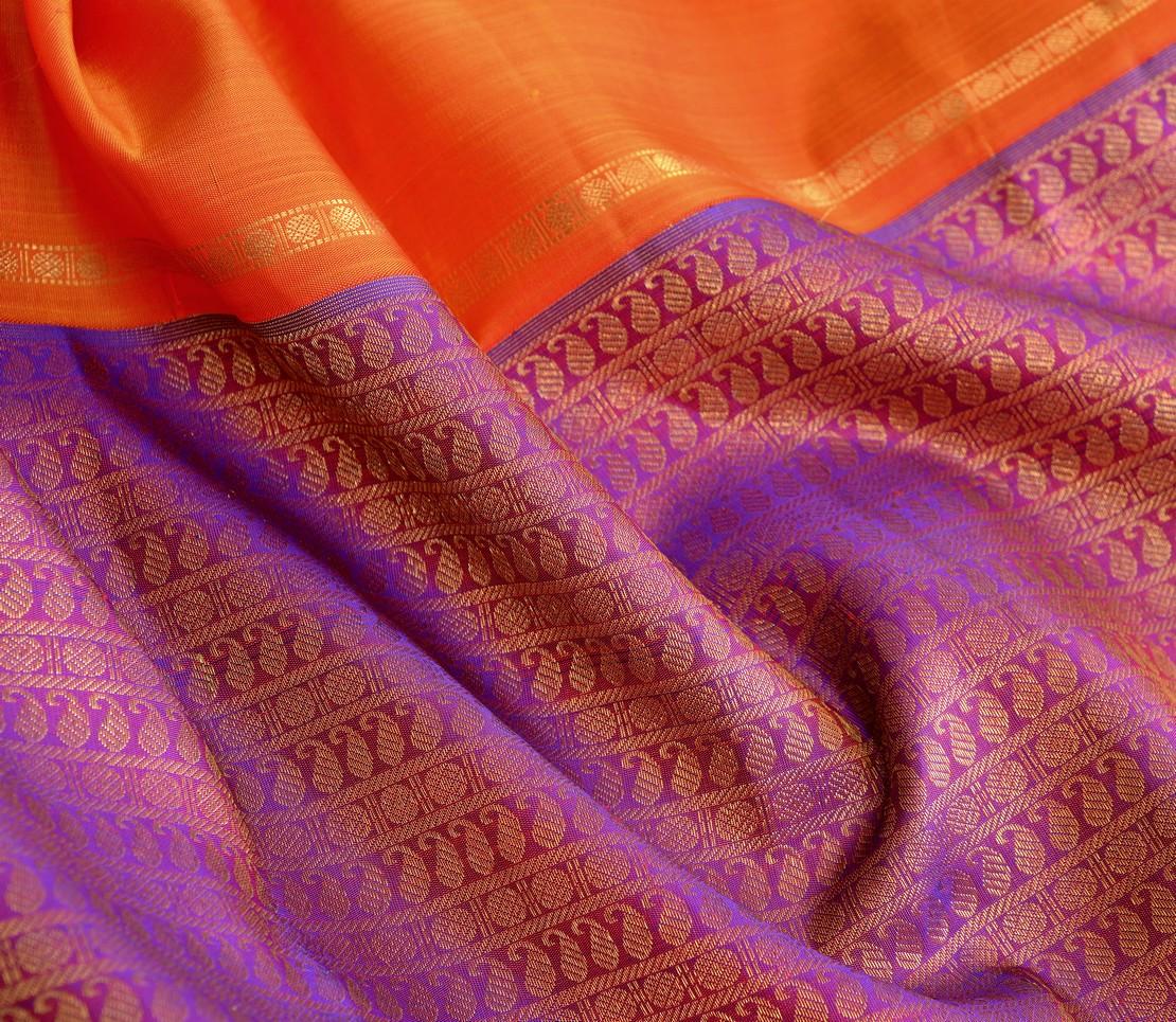 Elegant Kanjivaram kanya bridal mubbhagam rich pallu weavemaya Bangalore India Maya purple 10172119 7