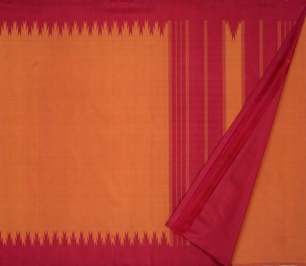 Elegant Kanjivaram thazampoo border weavemaya Bangalore India Maya rust orange KU082101 2