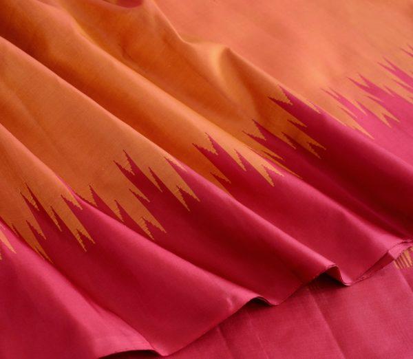 Elegant Kanjivaram thazampoo border weavemaya Bangalore India Maya rust orange KU082101 4