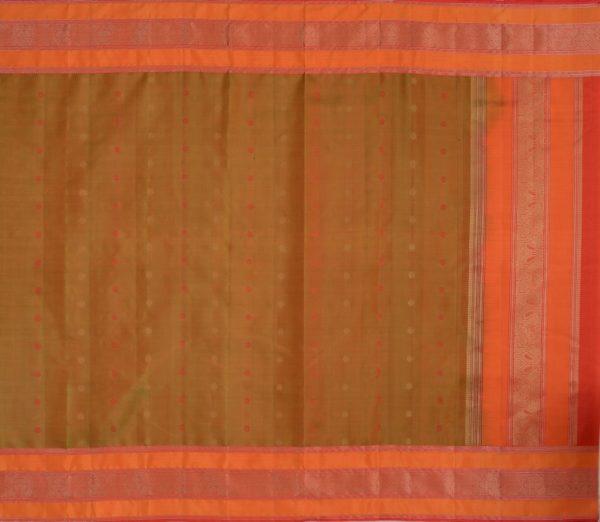 Elegant Kanjivaram threadwork butta weavemaya Bangalore India Maya mehendi green 4502107 1