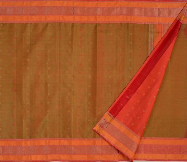 Elegant Kanjivaram threadwork butta weavemaya Bangalore India Maya mehendi green 4502107 2